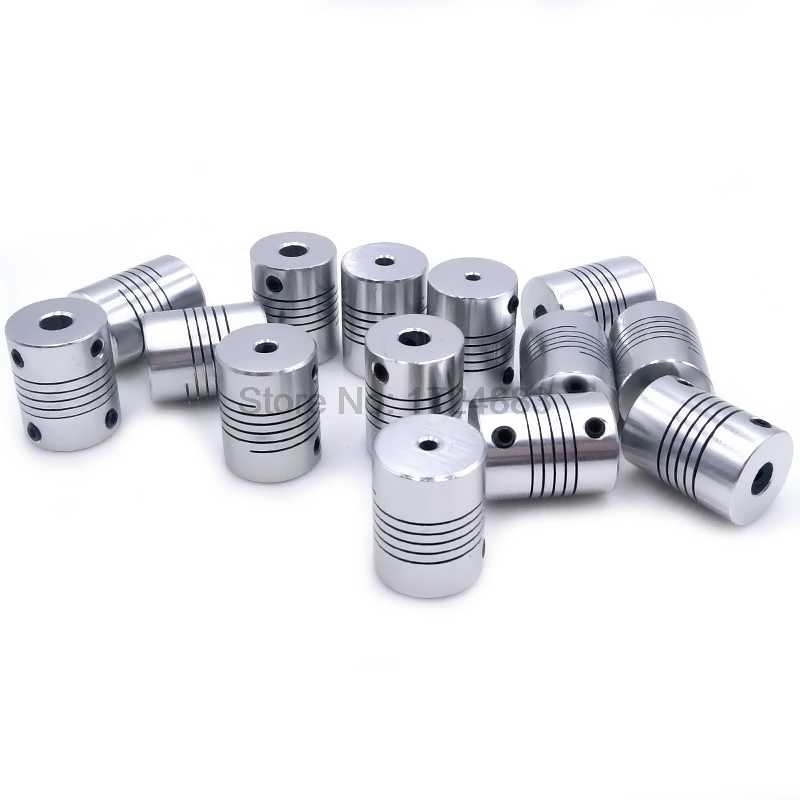 D19 * L25 Aluminium flexibele Jaw Shaft Coupling 5 8 6.35mm 8mm 10mm CNC Stappenmotor Koppeling encoders Graveermachine