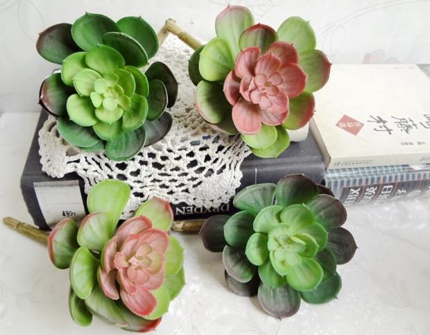 1pcs artificial succulents flowers Snow Lotus zakka fruit artificial plants home bonsai plants flowers