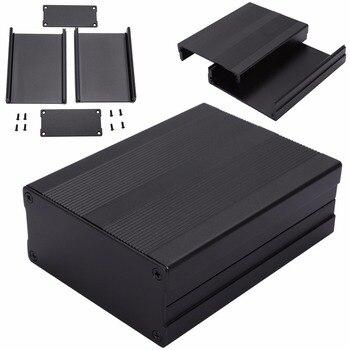 Preto 100*76*35mm gabinete de alumínio caixa de instrumentos pcb mayitr gabinete projeto eletrônico caso