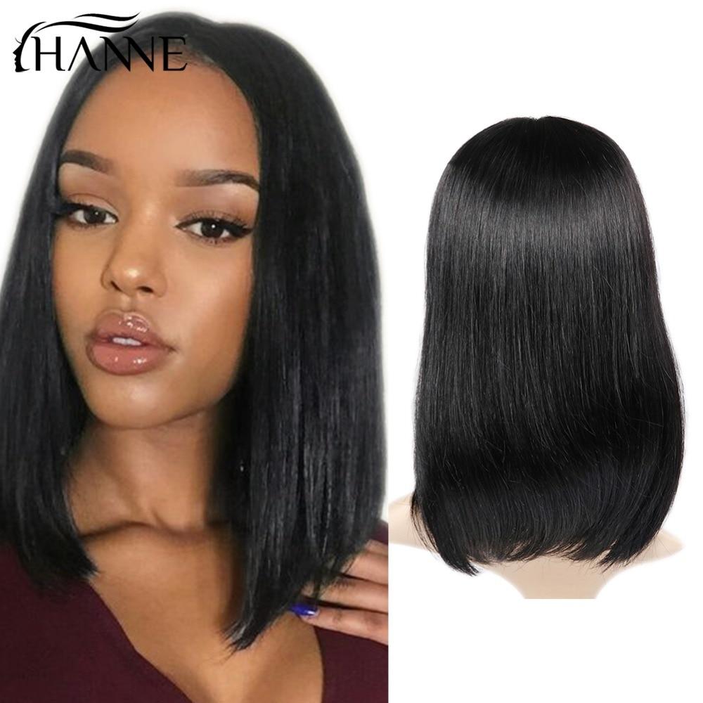 HANNE Lace Front Human Wig Rambut Hitam Wanita Natural Hitam Pra - Pasokan kecantikan - Foto 1