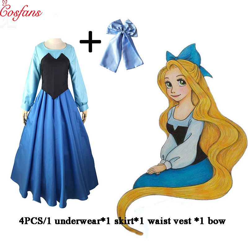 2018 Ariel cosplay dress costume Mermaid Costume Princess Dress Female <font><b>Adult</b></font> <font><b>Sexy</b></font> Dress Fancy <font><b>Halloween</b></font> Party Dance Performance image