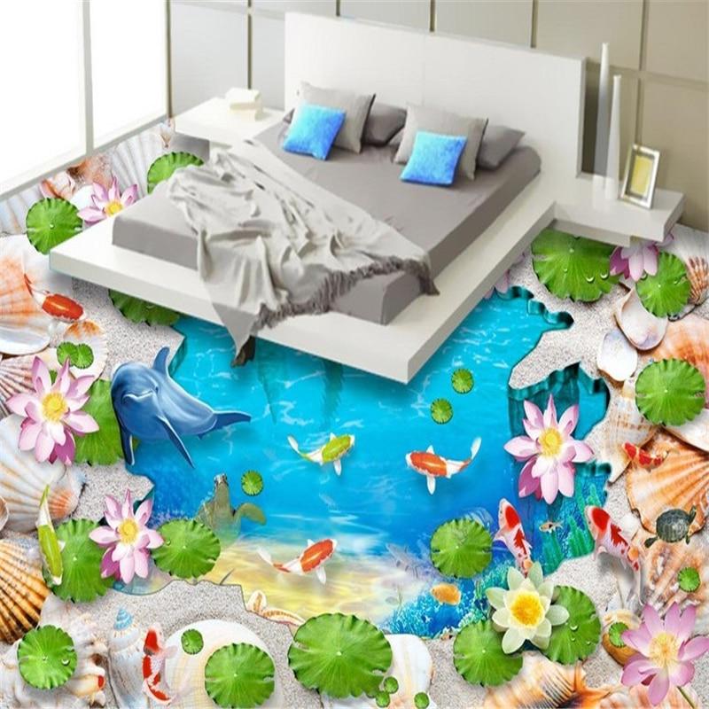 где купить beibehang Underwater world shell sea high-definition bedroom bathroom waterproof self-adhesive wallpaper 3d flooring wall paper по лучшей цене