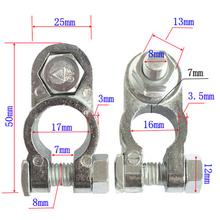 2pcs Positive&Negative Cargo Type Zinc Coat Battery Terminals Clamp Connectors New Drop shipping