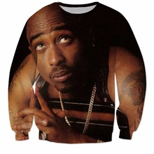 harajuku Hip hop 3d sweatshirt for Men Women autumn pullovers printed rapper 2pac Tupac casual long sleeve sweatshirts