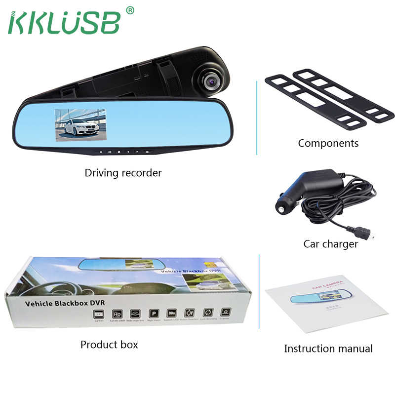 dash camera car dvr rear view mirror auto dashcam recorder registrator car video full hd dash cam Vehicle DVR camera