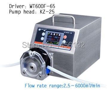 WT600F-65 KZ25 Head Big High Flow Industrial Lab Intelligent Dispensing Peristaltic Dosing liquid Pumps (IP65) 0.25~6000 ml/min bt101f yz15 industrial medical lab food dispensing dosing filling tubing liquidperistaltic pump 0 006 420ml min
