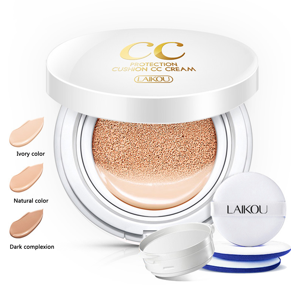 LAIKOU Air Cushion Isolation CC Cream Korean Cosmetic Moisturizer Make Up Oil Control Hyaluronic Acid Whitening BB Makeup image