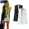 Women Fashion Wardrobe waistcoat Slim cotton vest 2017 Decoration Vests Female Sleeveless Waistcoat office lady pocket coat