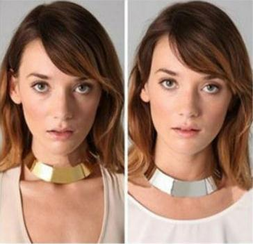 gold choker neklace fashion choker necklace