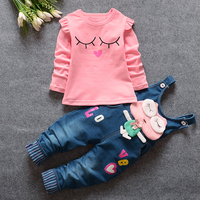A Spring Suit For Children On Behalf Of Girls Cowboy Suit Cotton Baby Clothes Baby Clothes