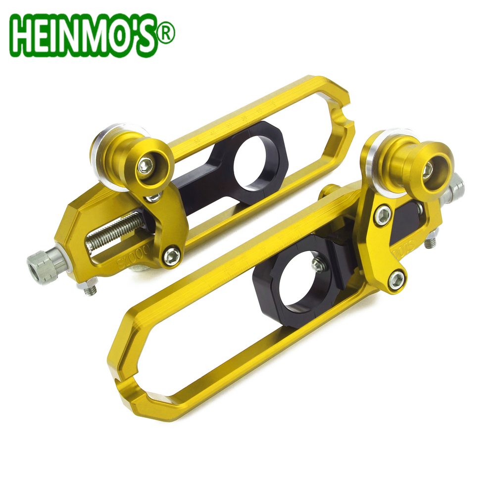 For S1000RR S1000 R RR HP4 2016 2015 2014 2013 Motorcycle Moto Scooter CNC Aluminum Chain Adjusters Gear Sprocket Accessory For S1000RR S1000 R RR HP4 2016 2015 2014 2013 Motorcycle Moto Scooter CNC Aluminum Chain Adjusters Gear Sprocket Accessory
