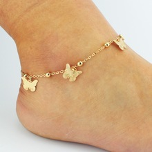 hot summer bead chain butterfly tassel Anklet foot ornaments wholesale
