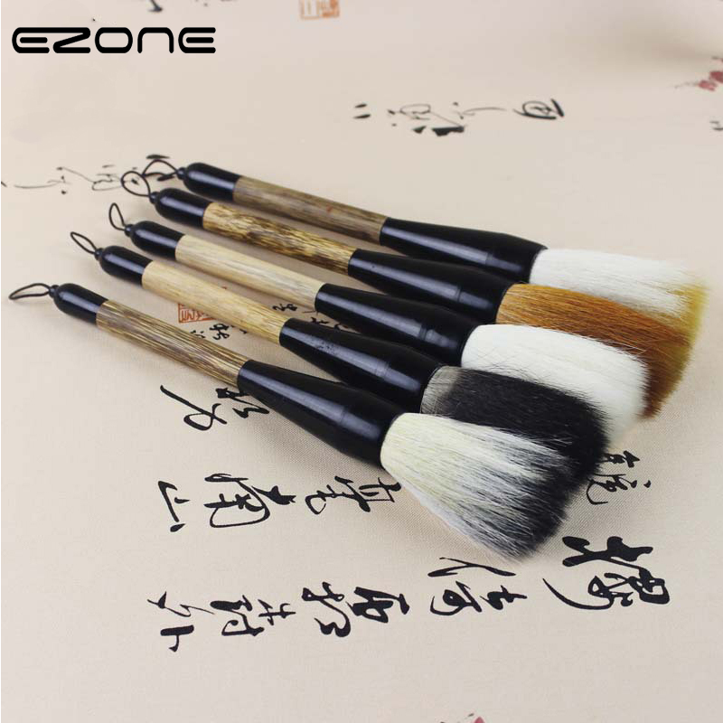 EZONE Super Large Hopper-shaped Writing Brush White Clouds Bamboo Wolf's Hair Chinese Traditional Calligraphy Pen Brush Supply