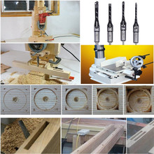 4Pcs Square Mortise Chisel and Drill Machine