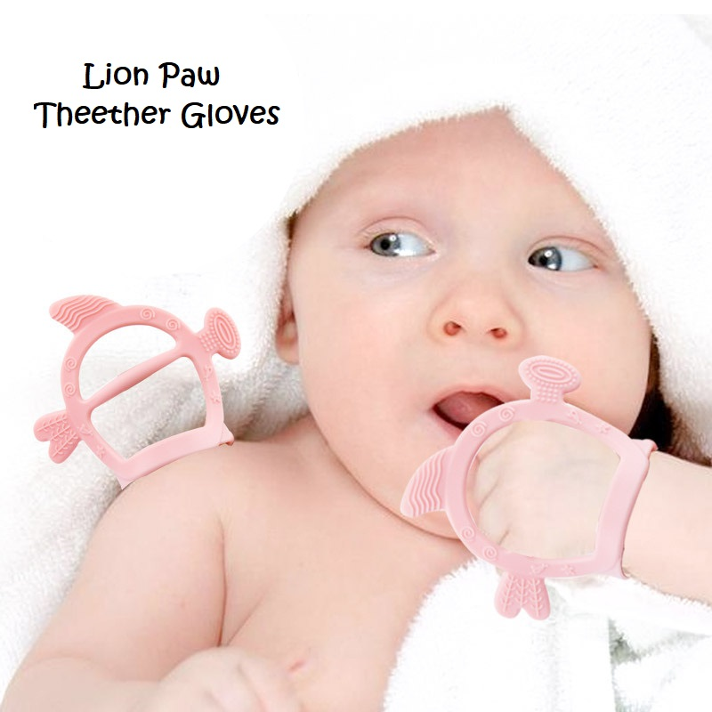 Soft Food Grade Silicone Teether Baby Pacifier Molar Glove Dental Care Anti Eating Gloves Teething Stick Not Easy Drop Off Glove