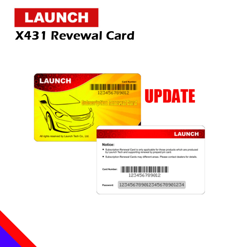 Launch Renewal Card X431 V+ Luanch X431 PROS MINI X431 V X431 PRO Pin Card 1 yr 2 years Gasoline & Diesel Cars Update X 431