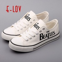 E LOV Low Top Men S Causal Shoes Customized Hip Hop Rock Style Male Canvas Shoes
