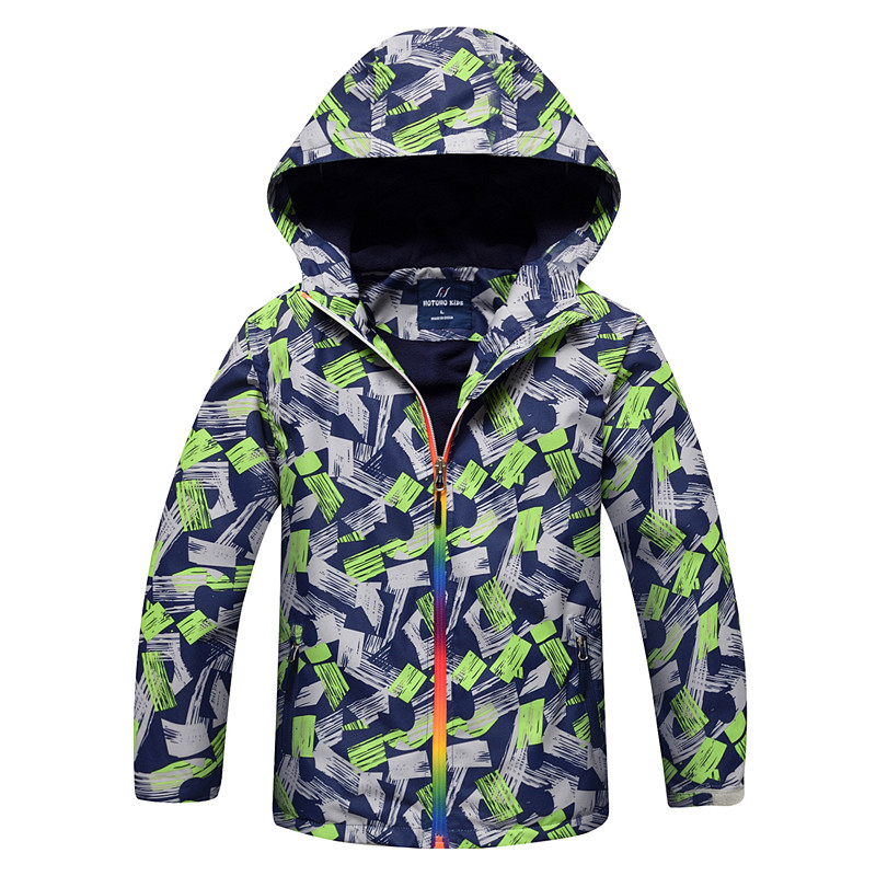 цена Fashion Boys Jacket Children's Winter Kids Coat Windbreakers Waterproof Windproof Baby Boys Jackets Spring Autumn Child Outwear