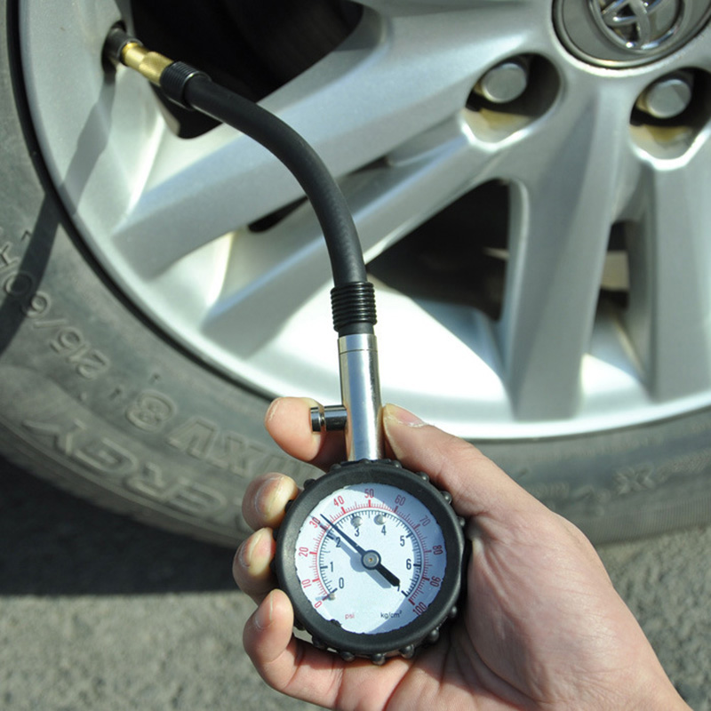 Long Tube Auto Car Bike Motor Tyre Air Pressure Gauge 0-100 PSI Meter Vehicle Tester Monitoring System F-Best