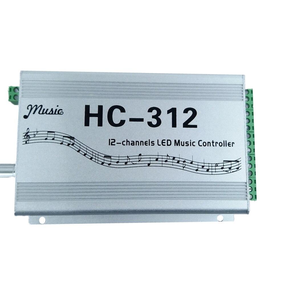 LED Music Controller HC312 input voltage 5V-24V Apply to WS2811 WS2812B WS2813 1903 1804 KTV Car decoration Party Hi detonation хай хэт и контроллер для электронной ударной установки roland fd 9 hi hat controller pedal