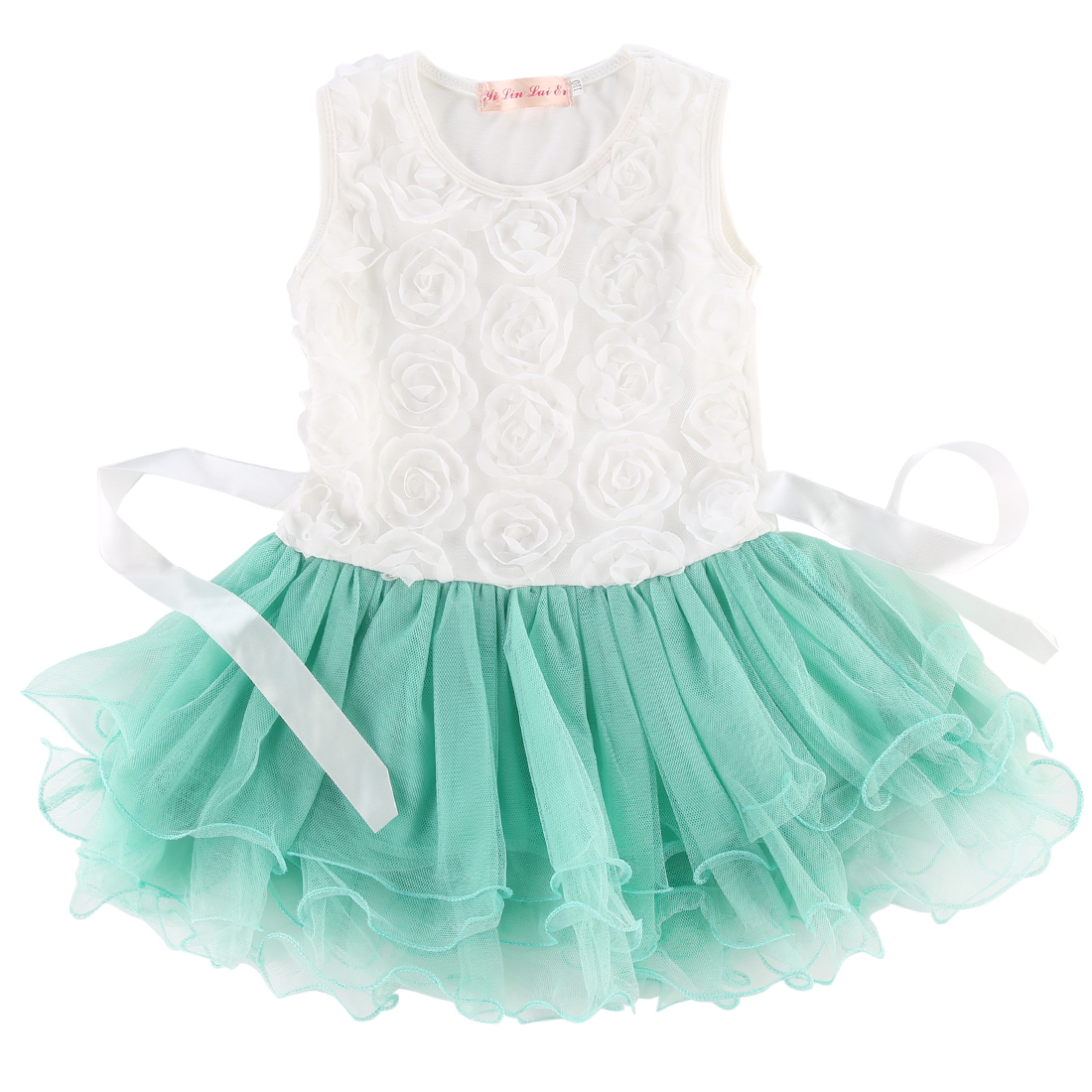 Flower Kids Baby Girl Summer Dresses Princess Bridesmaid Petal Tulle ...