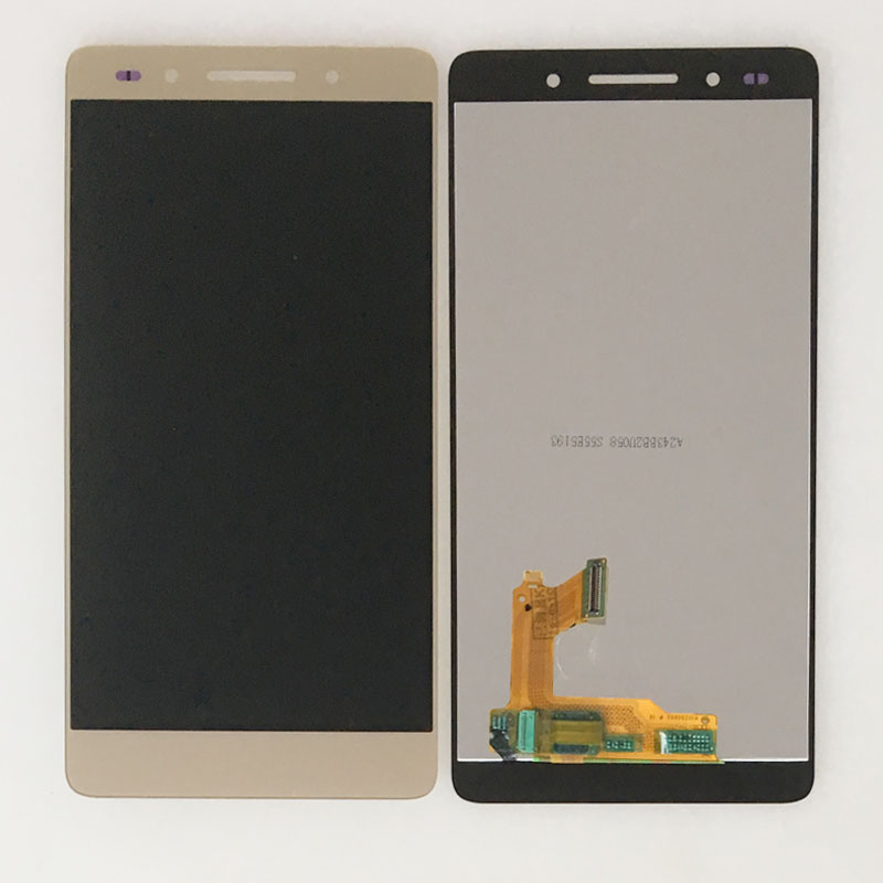 Подробнее о Gold LCD Touch Screen Digitizer Glass Assembly For Huawei Honor 7 PLK-TL00 UL00 CL00 lcd display touch screen digitizer assembly for huawei honor 7 plk al10 tl01h cl00 panel front outer glass lens black white gold