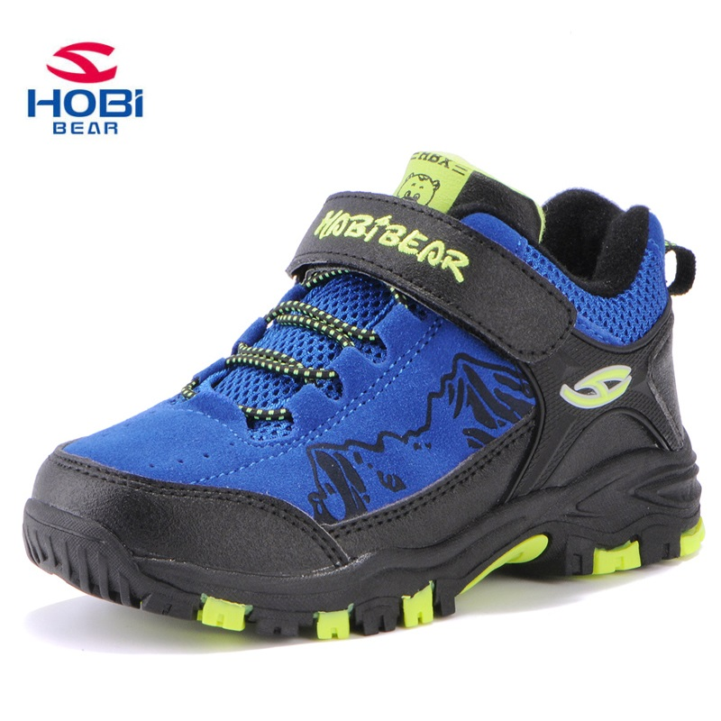 цена на Kids Sport Shoes for Boys Girls Sneakers Shoes Children Climbing Slip On Hiking Waterproof Child Tennis Trainers HOBIBEAR A601