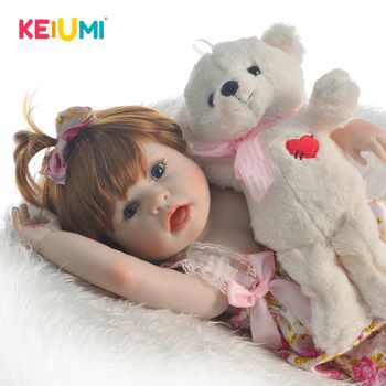 KEIUMI New Design 23\'\' Full Silicone Reborn Baby Girl Doll Realistic Get Surprising Funny Face Baby Doll Toy for Kids Playmates - DISCOUNT ITEM  37 OFF Toys & Hobbies