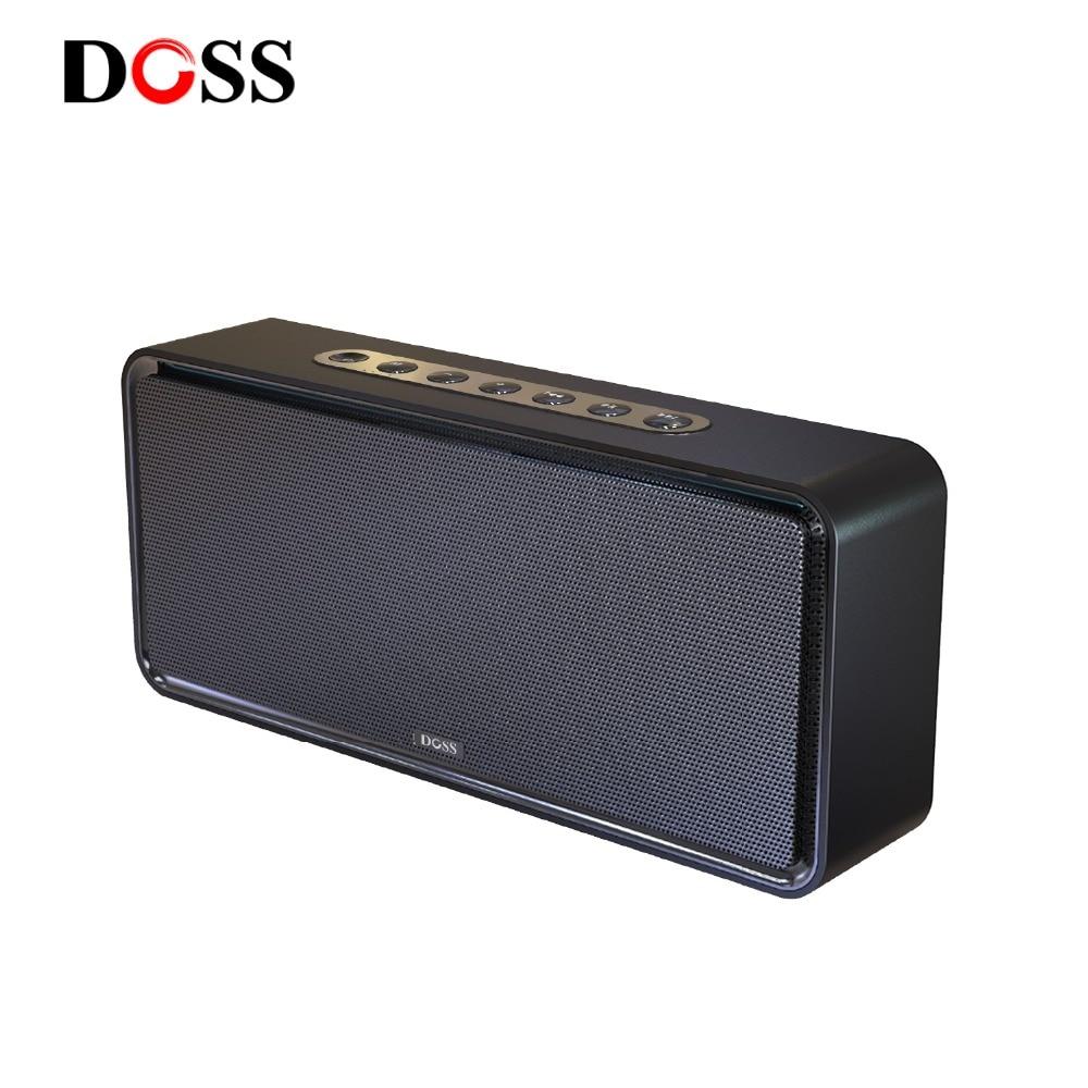 DOSS Caisse de Résonance XL Portable Sans Fil Bluetooth Haut-Parleur Double-Pilote 3D Stéréo Basse Audacieux Subwoofer Musique Surround Soutien TF AUX USB