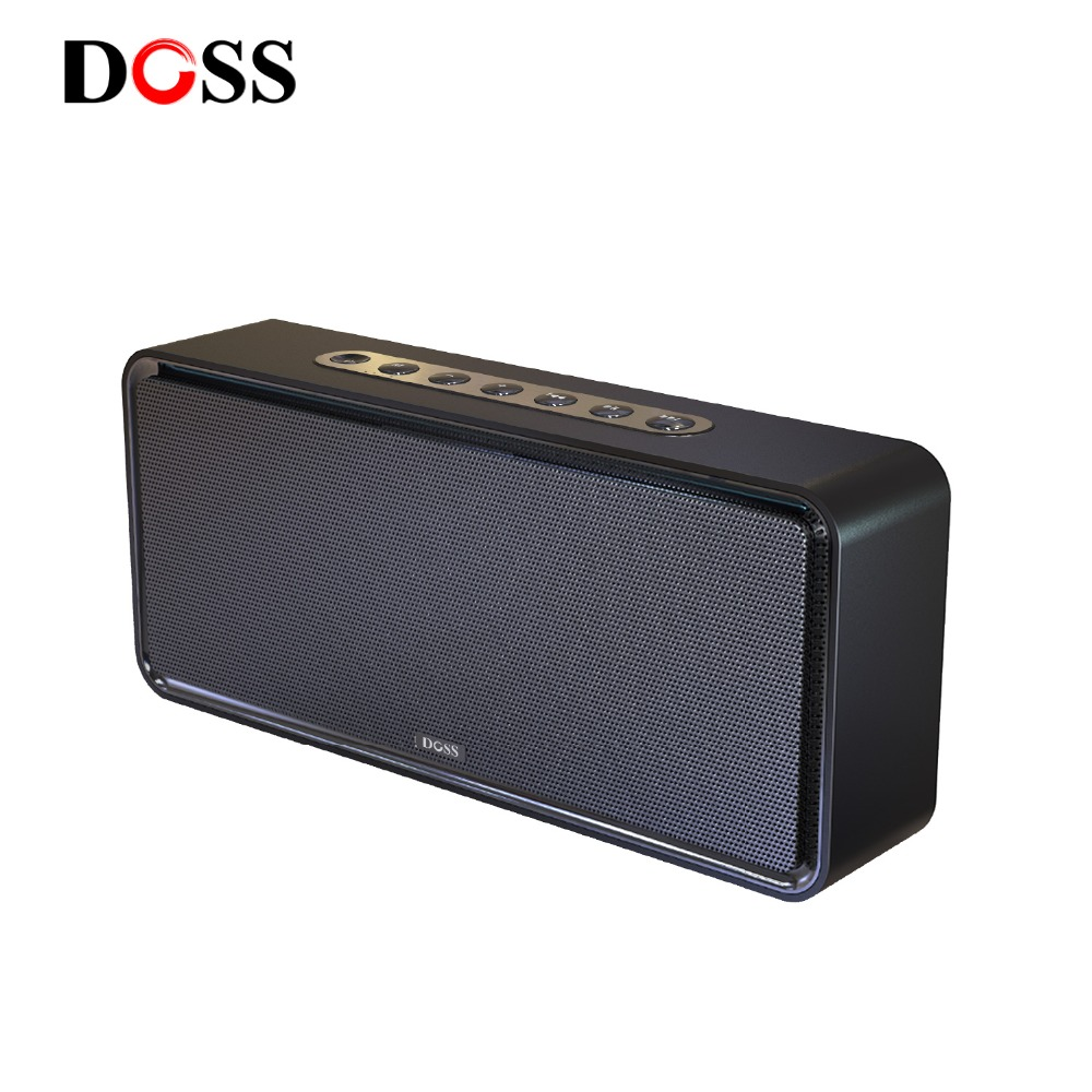 DOSS caja de resonancia XL Portátil inalámbrico Bluetooth altavoz Dual-conductor 3D estéreo audaz bajo Subwoofer Music Surround apoyo TF AUX USB