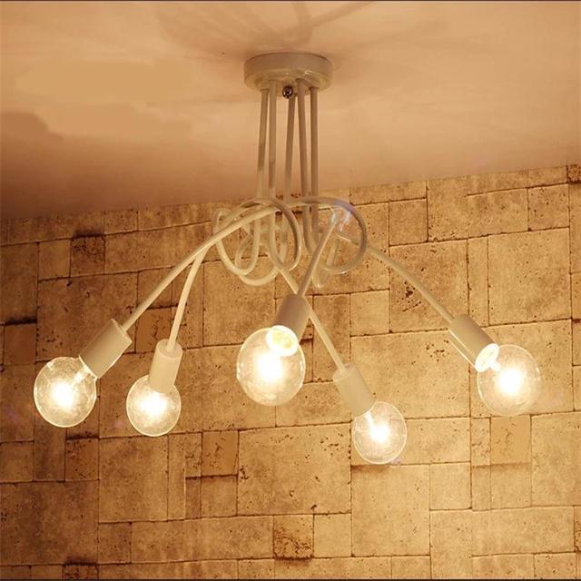 Kreative E27 5 Lichter Lampe Eisen Deckenleuchte Lampe Dekoration Lichter  Wohnzimmer Schlafzimmer Kostenloser Versand