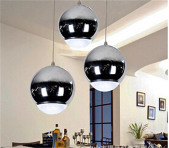 new arrive modern plated chrome LED pendent lamp 1/3 head dining room bar pendent light DY-1411