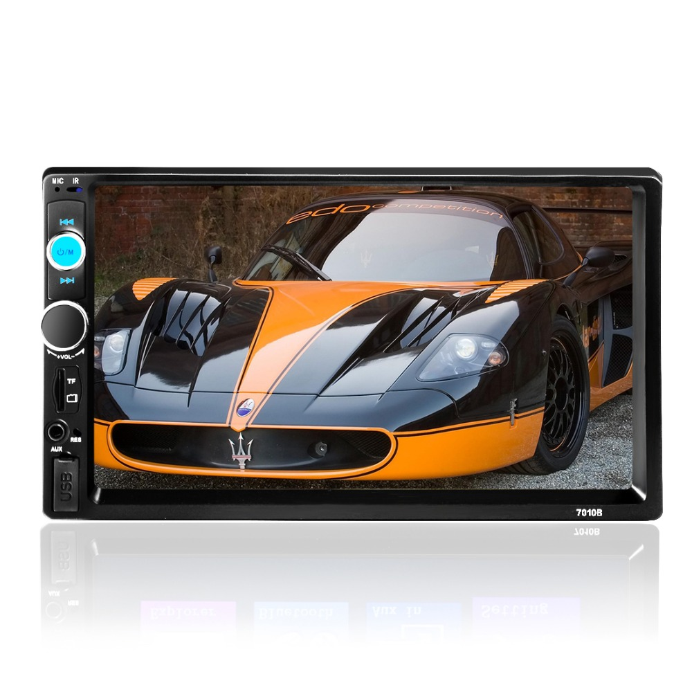 2 DIN Autoradio <font><b>7010B</b></font> 7 Inch Bluetooth TFT Screen Dual Core Car Audio Stereo MP5 Player 12V Auto 2-Din Support AUX FM USB SD MMC image