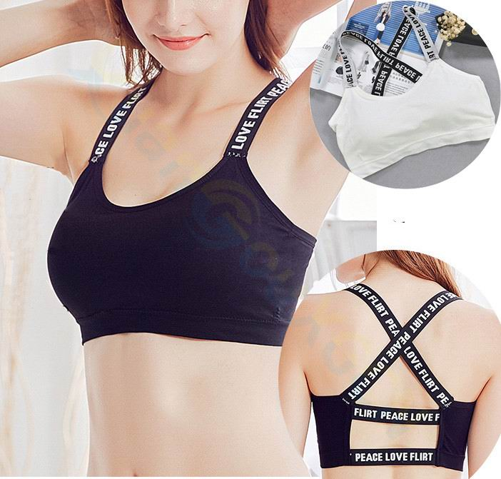 200 English words Gym Yoga running Sexy Women Tank Tops Breathable Fitness Vest Workout Top girl Exercise T shirt underwear bra in Sports Bras from Sports Entertainment