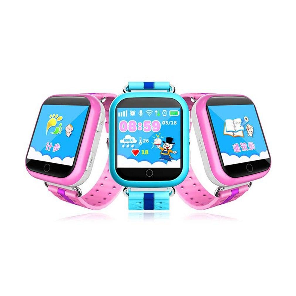 Q10 russe/anglais enfant montre intelligente GPS Tracker SOS téléphone appel podomètre 1.54 pouces écran tactile enfants montre pour IOS et Android