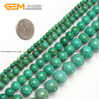 Fashion Round Old Natural Turquoise Natural Loose Stone Beads 4 25mm Strand 15 Diy Bracelet Necklace