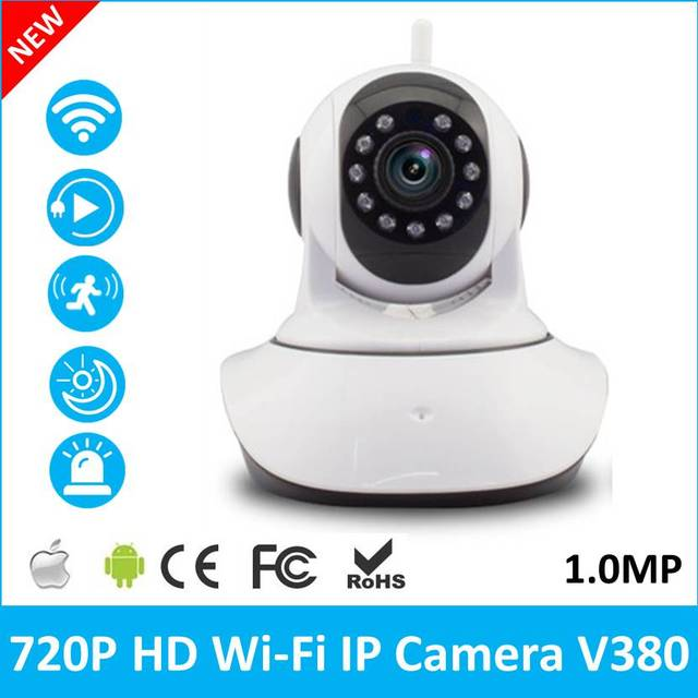 US $36 99 |V380 WiFi Wireless 720P IP Camera WiFi IP Camera Two Way Audio  Baby Monitor Pan Tilt Security Camera Easy QR CODE Scan Connect-in