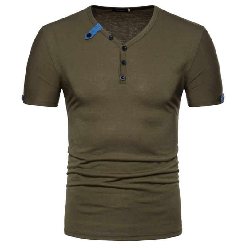 New Summer Men's Fashion tshirts Tops Casual T-shirt Short Sleeve Solid Color mens clothing 5colour