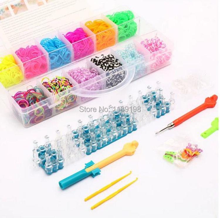 40 Grid Portable Loom Bands Kit Plastic Box Elastic Rubber Band Interesting Rubber Band Bracelet Patterns