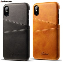 Mobile phone case new for iphoneXSMax Apple 7plus leather Dallas pattern S10 card XR protection