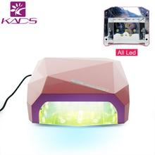36W 110v&220v Nail Gel Lamp Dryer With Sense EU AU US UK Plug Diamond Shape Curing Nail Dryer Care Machine for Gel Nail Polish