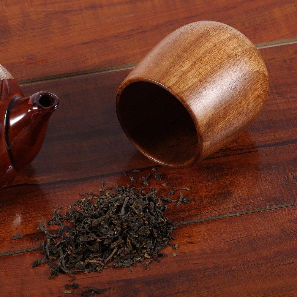 1Pc Cool Wooden Wood Cup Primitive Handmade Natural Spruce Breakfast Beer Coffee Milk Drinkware in Teacups from Home Garden