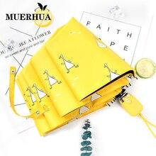 MUERHUA, автоматический женский зонт, ветрозащитный, водонепроницаемый, три складных алюминиевых зонта, женский, Мужской зонтик, детский зонтик