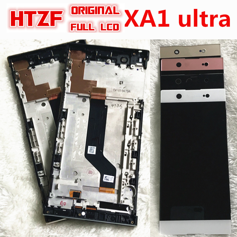 Full Original LCD For SONY Xperia XA1 Ultra 6.0 Inch LCD Screen Display Digitizer For Sony C7 Assembly Touch Screen Frame