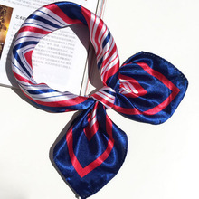 Fashion Women Girl Office Casual Elegant Square Printing Hotel Waiter Flight Attendants Business Imitate Silk Scarf