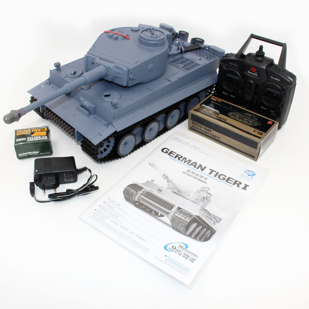 HOT 1/16 Scale Shooting BB Bullets Tank Set RC Military Car Long Remote Control Model Toy Gift Vehicle with 320'Rotate 30'lift baby toys rc tank boy toys amphibious tank 4ch 1 30 large rc tank toy remote control tank fire bb bullets shooting gift for kids