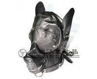 Exotic Accessories Dog Hood Mask BDSM Bondage Toy Bondage Restraint Hood Mask Fetish Hood Role Play Sex Toys For Couples