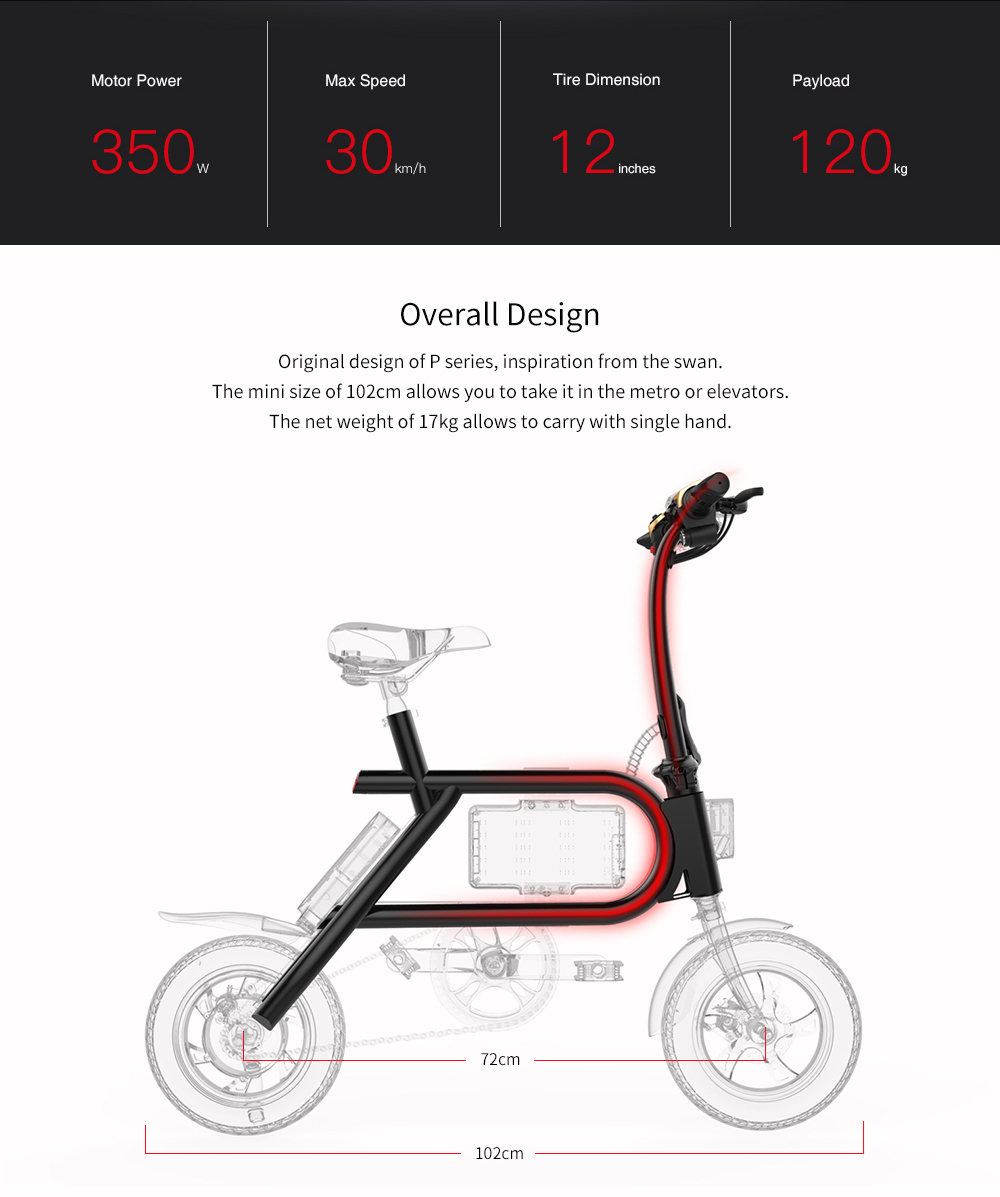 HTB1UpYruOAnBKNjSZFvq6yTKXXal - INMOTION P2F EBIKE Folding Bike Mini Bicycle Electric Scooter Lithium-ion Battery 350W CE RoHS FCC