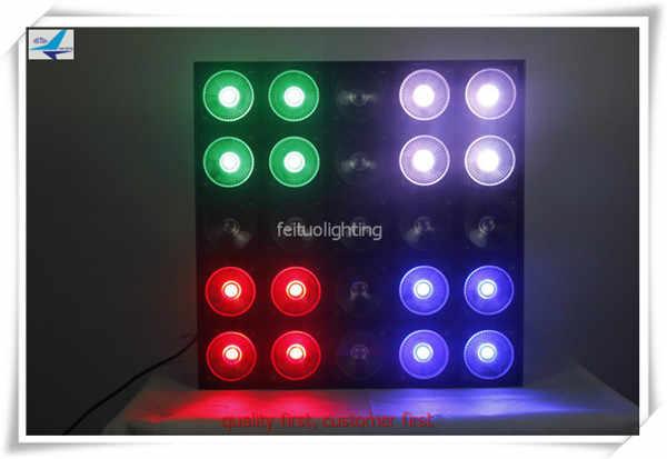 free shipping 30W RGB led beam dmx matrix 5x5 blinder stage background light