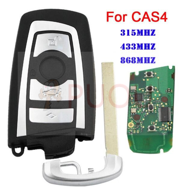 4 Buttons Smart Remote Car Key Fob For BMW F CAS4 5 Series 7 Series Uncut Blade 315MHz 433MHz 868MHz